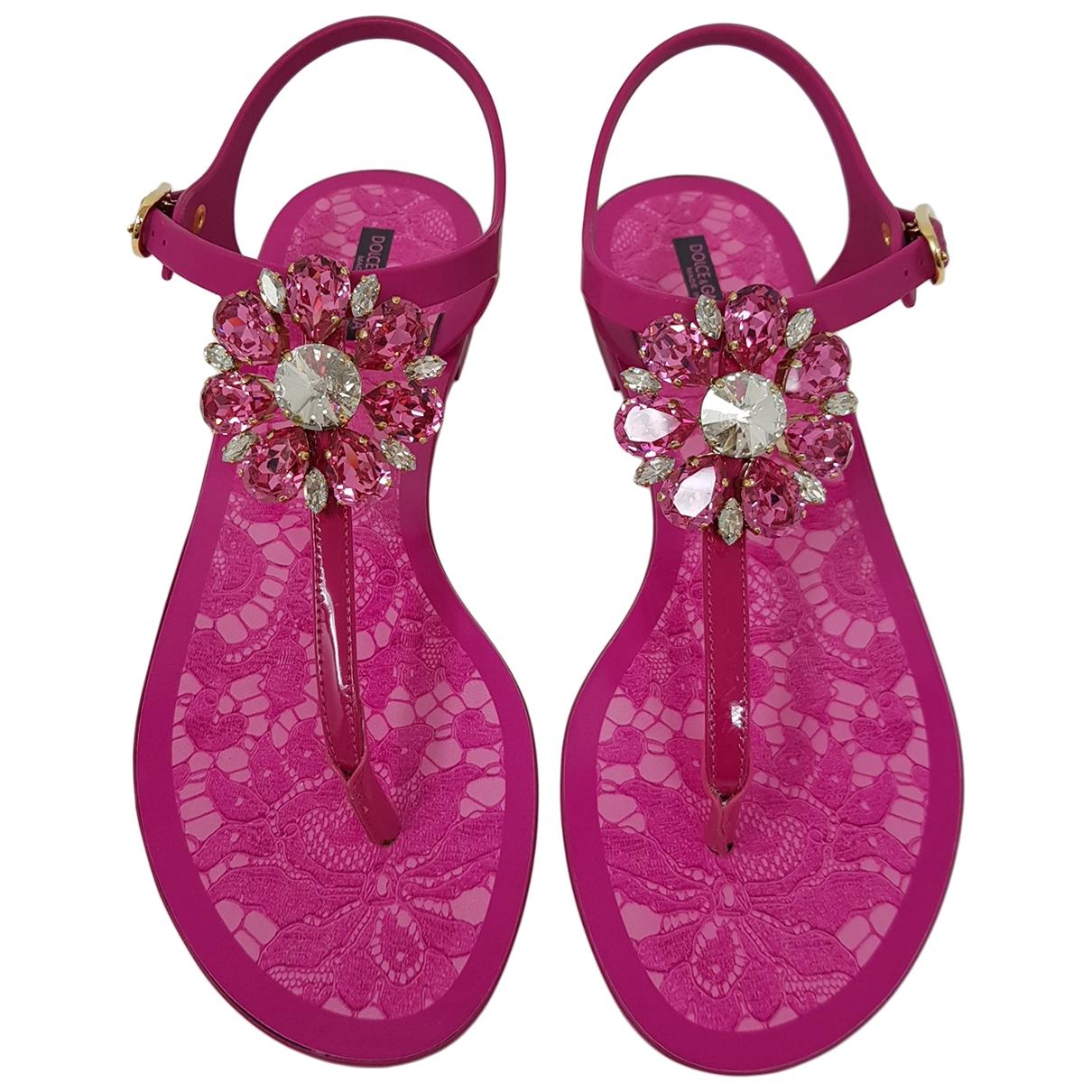Dolce & Gabbana \N Pink Rubber Sandals for Women 40 EU