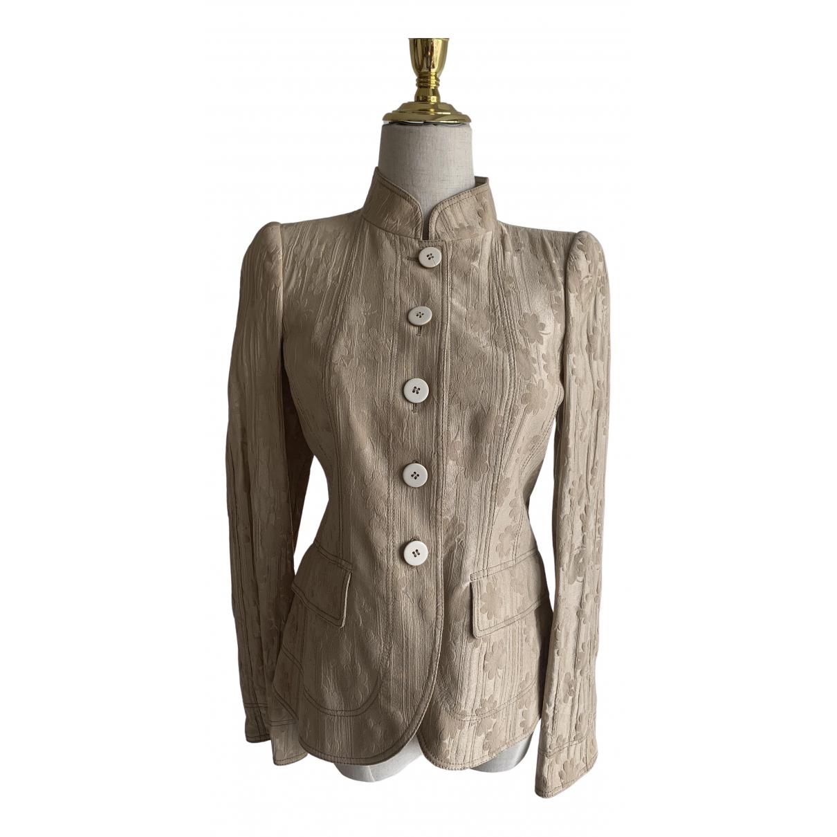 Armani Collezioni - Veste   pour femme en laine - beige