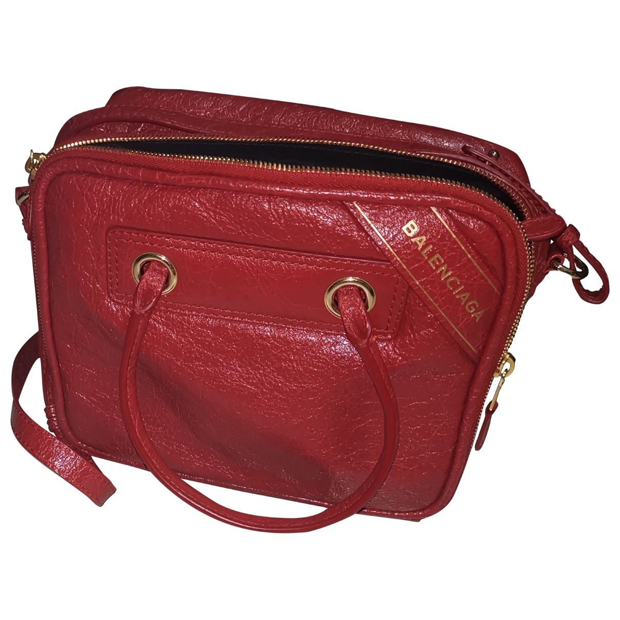 Balenciaga Blanket Handtasche in  Rot Leder