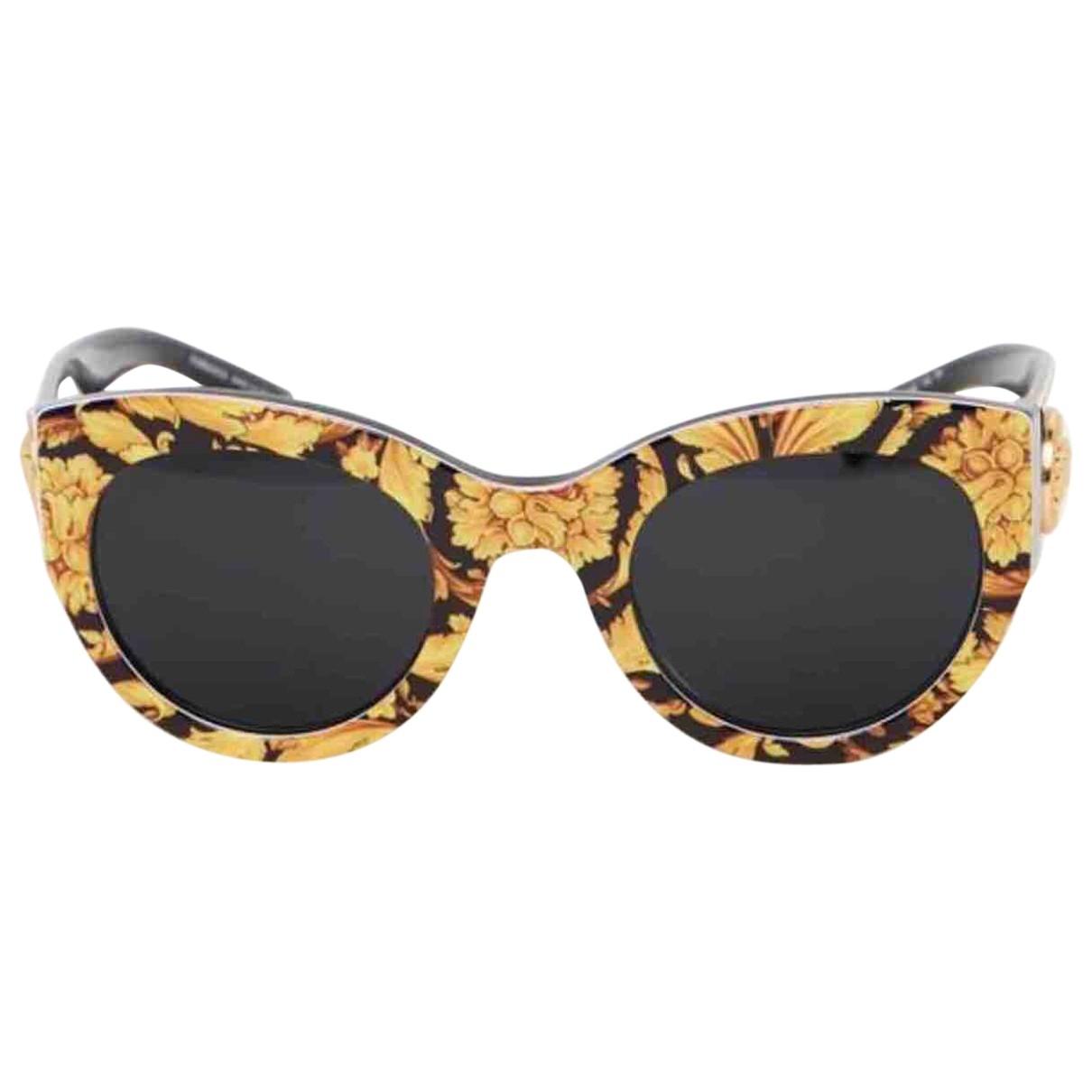 Versace \N Sonnenbrillen in  Gelb Kunststoff