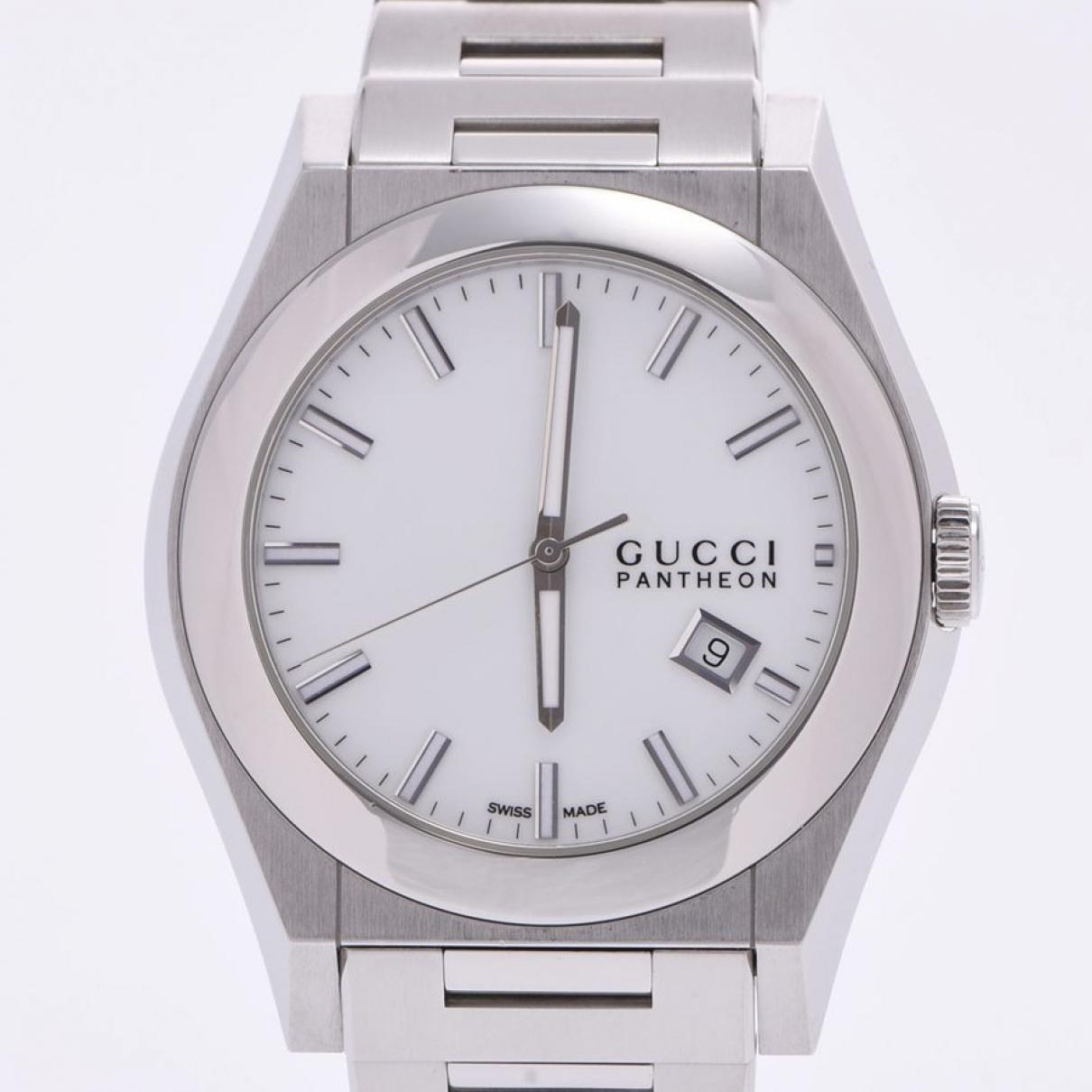 Gucci Pantheon Uhr in  Weiss Stahl