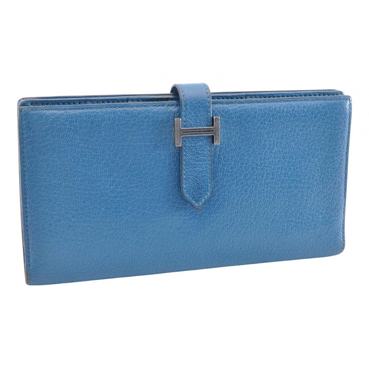 Hermès Béarn Blue Leather wallet for Women N