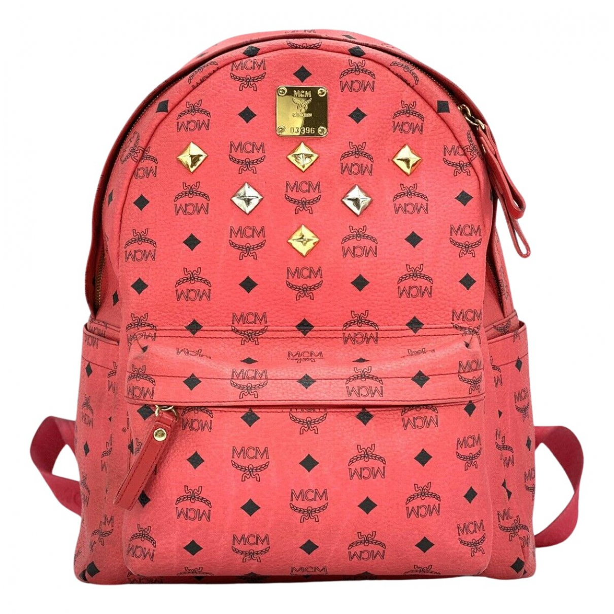 Mcm Stark Red Cloth backpack for Women N