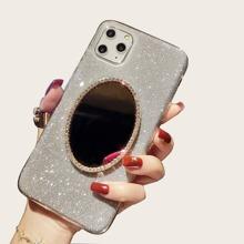 1pc Mirror Decor Glitter iPhone Case