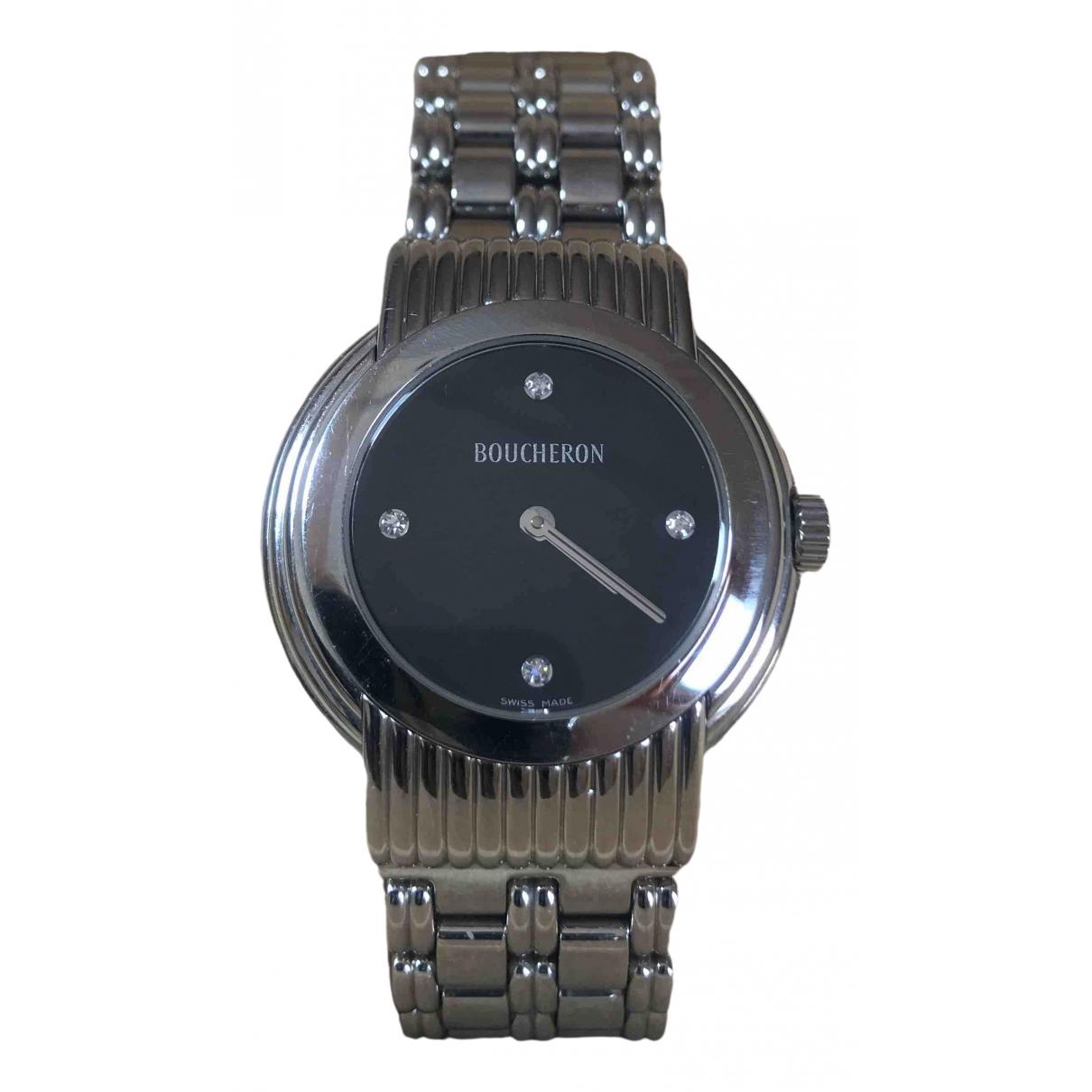Boucheron Solis Silver Steel watch for Women \N