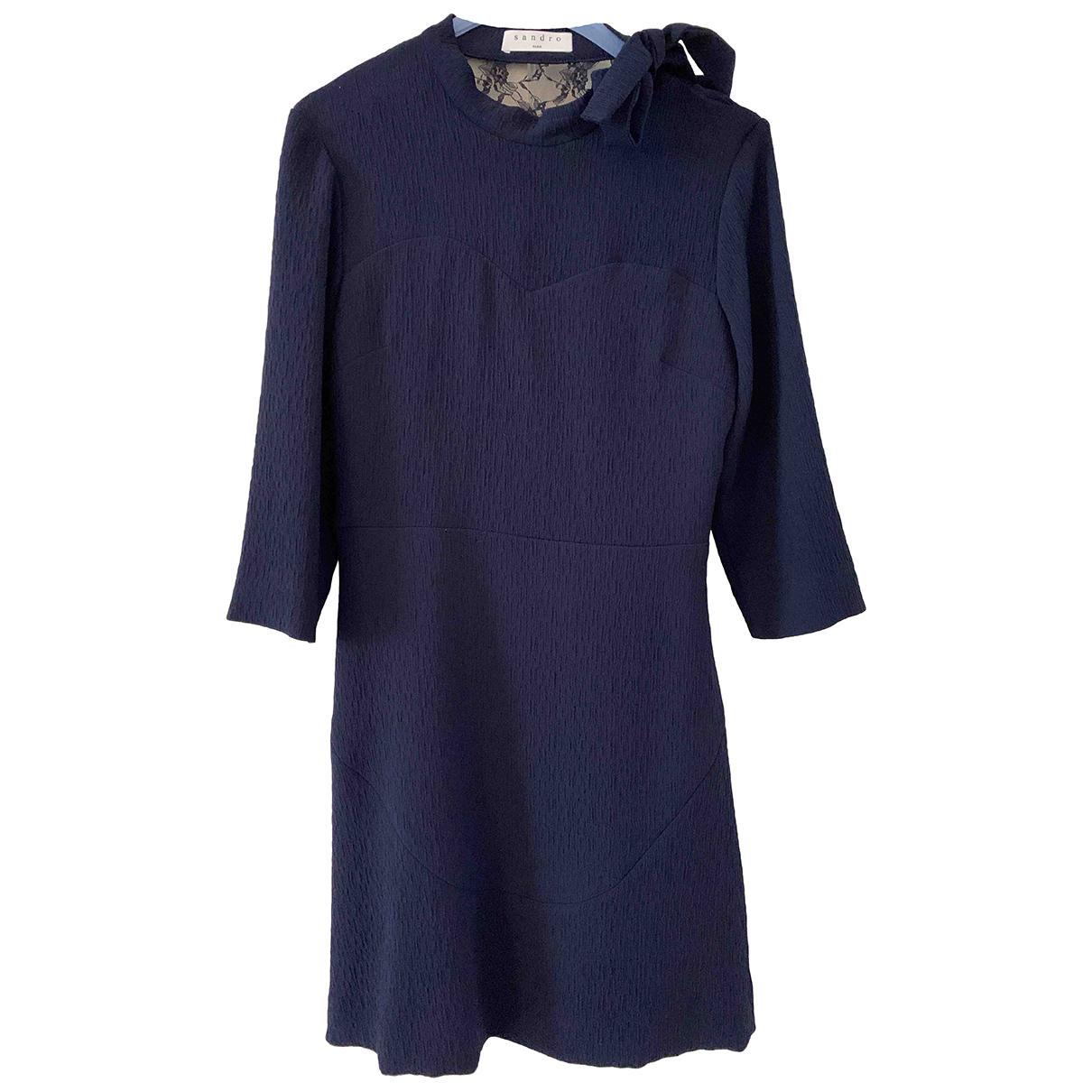 Sandro \N Kleid in  Blau Polyester