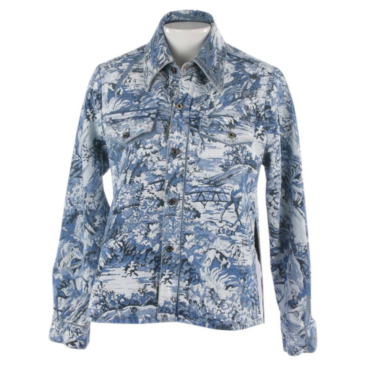 Off-white \N Jacke in  Blau Baumwolle