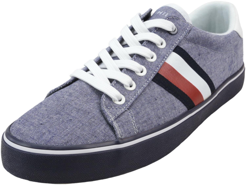 Tommy Hilfiger Men's Paris 3 Dark Blue Ankle-High Fabric Sneaker - 9M