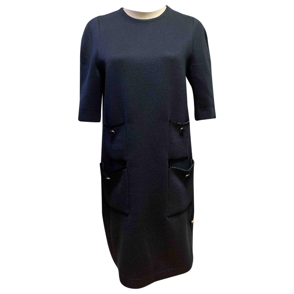 Louis Vuitton \N Kleid in  Marine Wolle