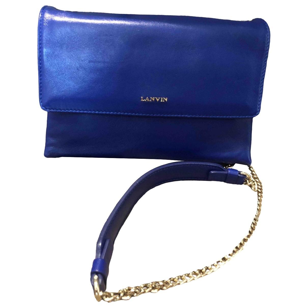 Lanvin \N Blue Leather Clutch bag for Women \N