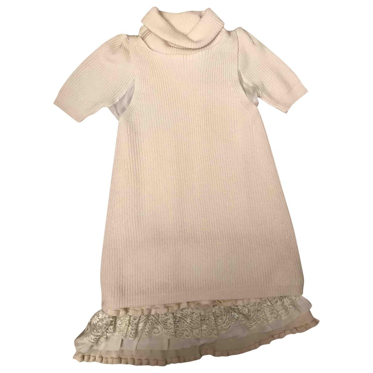 Twin Set \N White Wool dress for Women M International
