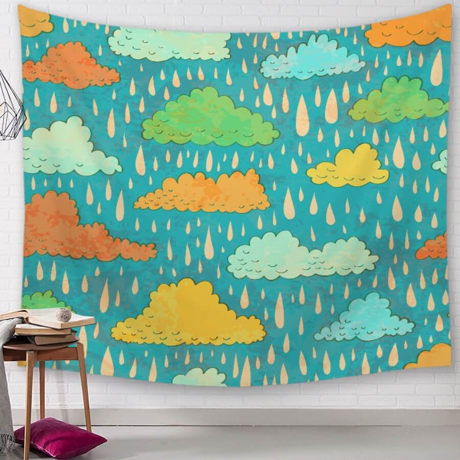 LW Lovely Print Multicolor Wall Cloth