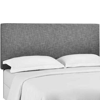 Taylor Collection MOD-5883-LGR King and California King Upholstered Linen Fabric Headboard in Light Grey