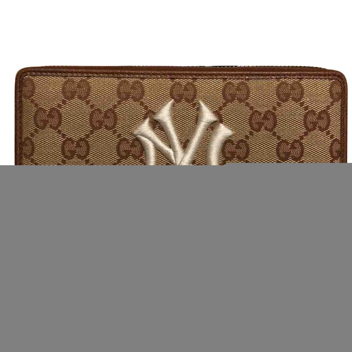 Gucci Continental Portemonnaie in  Beige Leinen