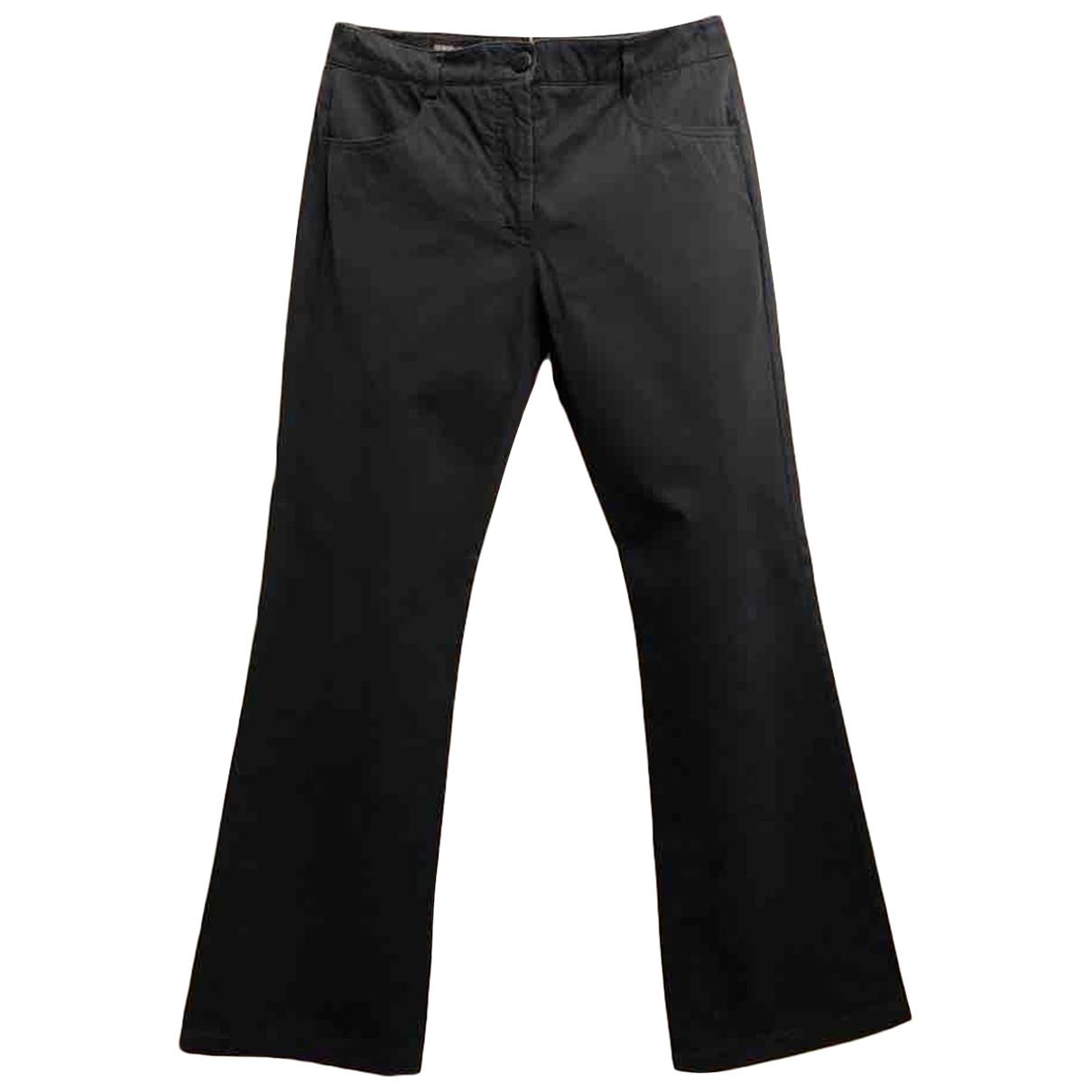 Giorgio Armani N Blue Cotton Trousers for Women 40 IT