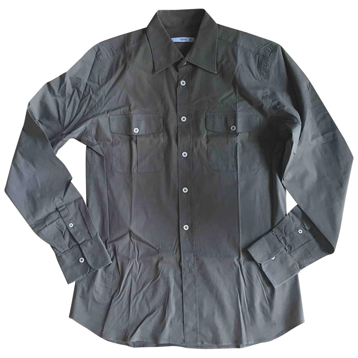 Prada \N Hemden in  Khaki Baumwolle
