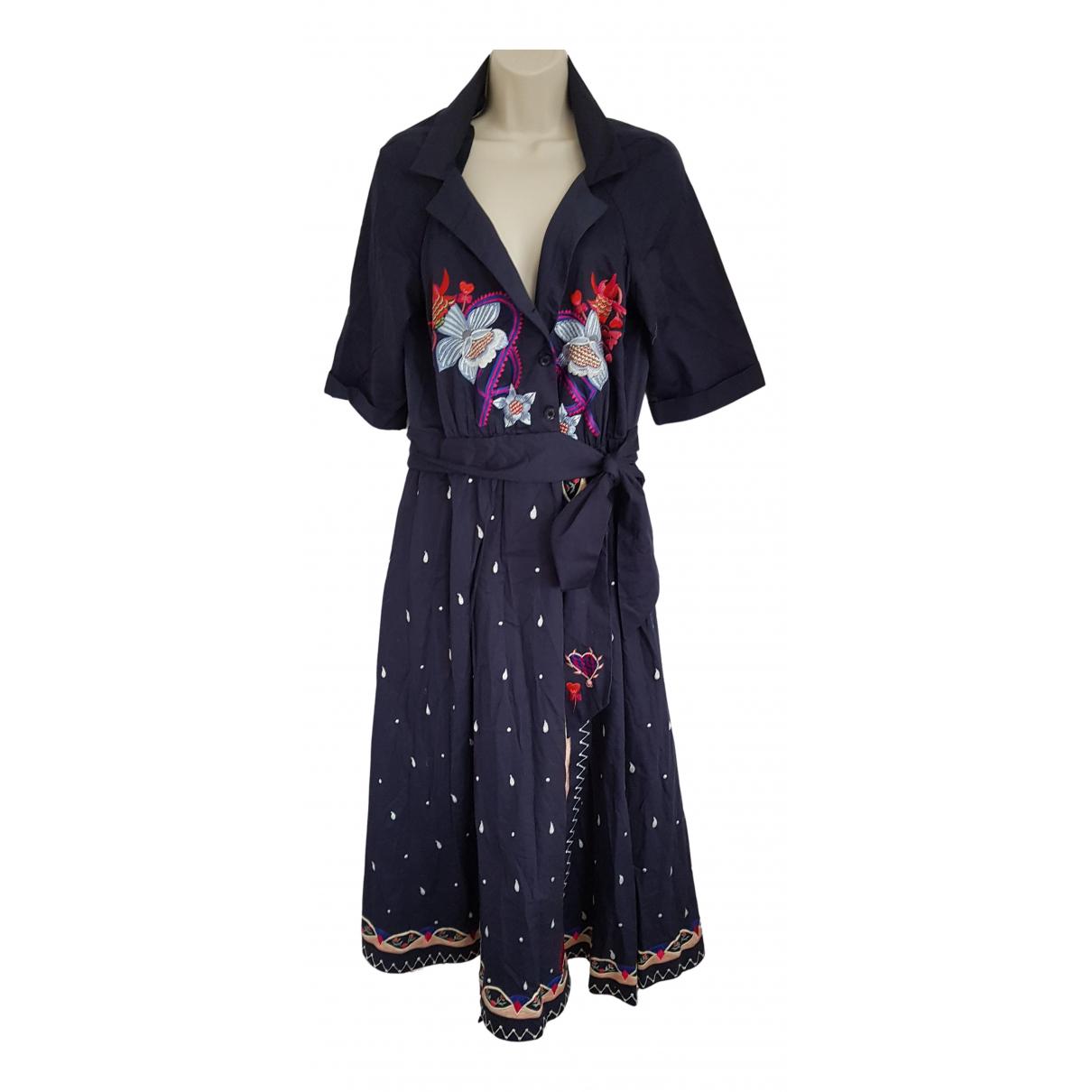 Temperley London - Robe   pour femme en coton - marine