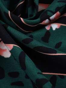 Leopard & Flower Print Bandana