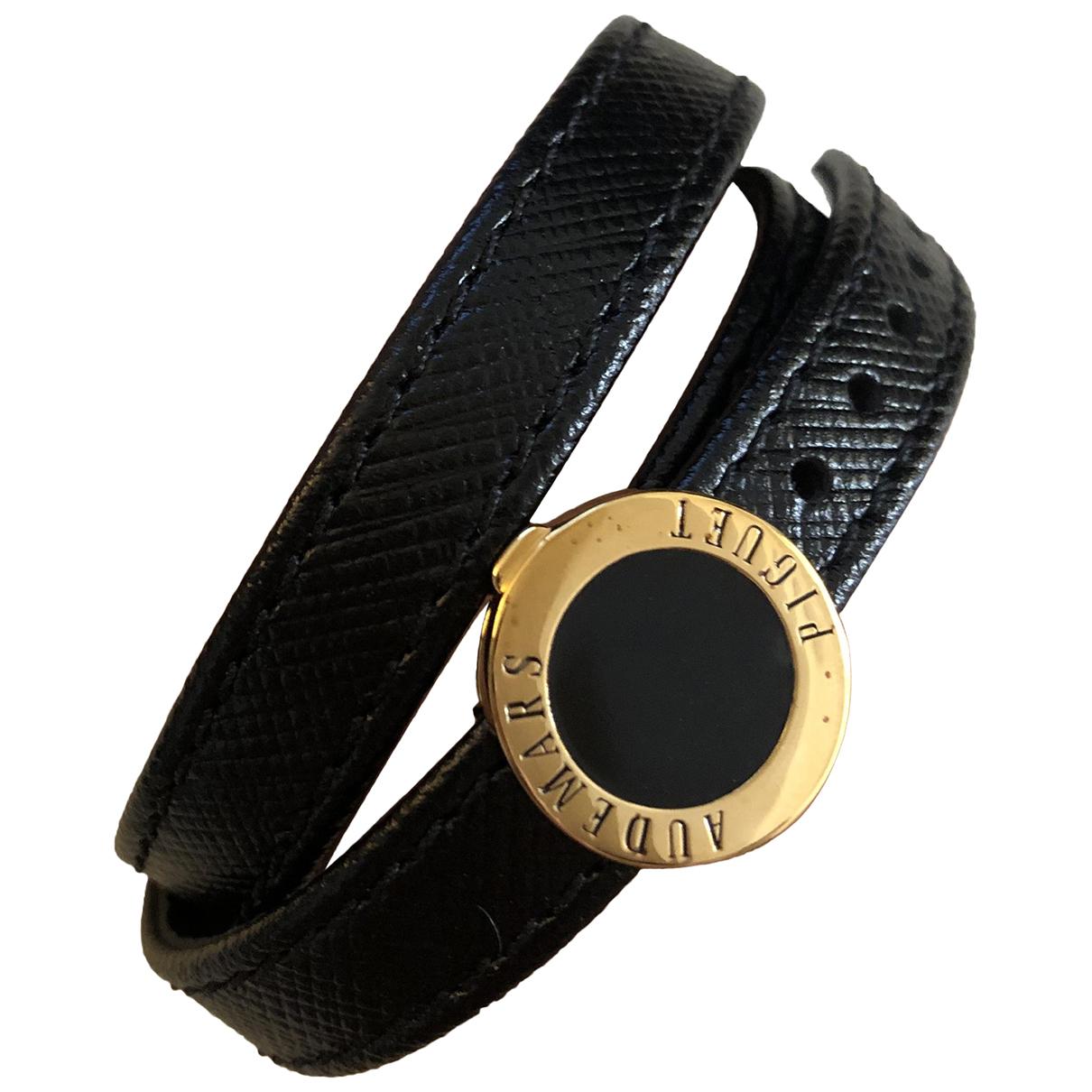 Audemars Piguet - Bracelet   pour femme en cuir - noir