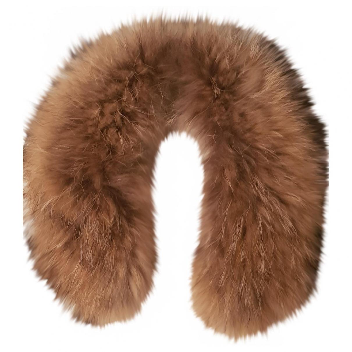 Des Petits Hauts \N Brown Raccoon scarf for Women \N