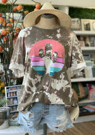 Tie Dye Cactus T-Shirt Tee