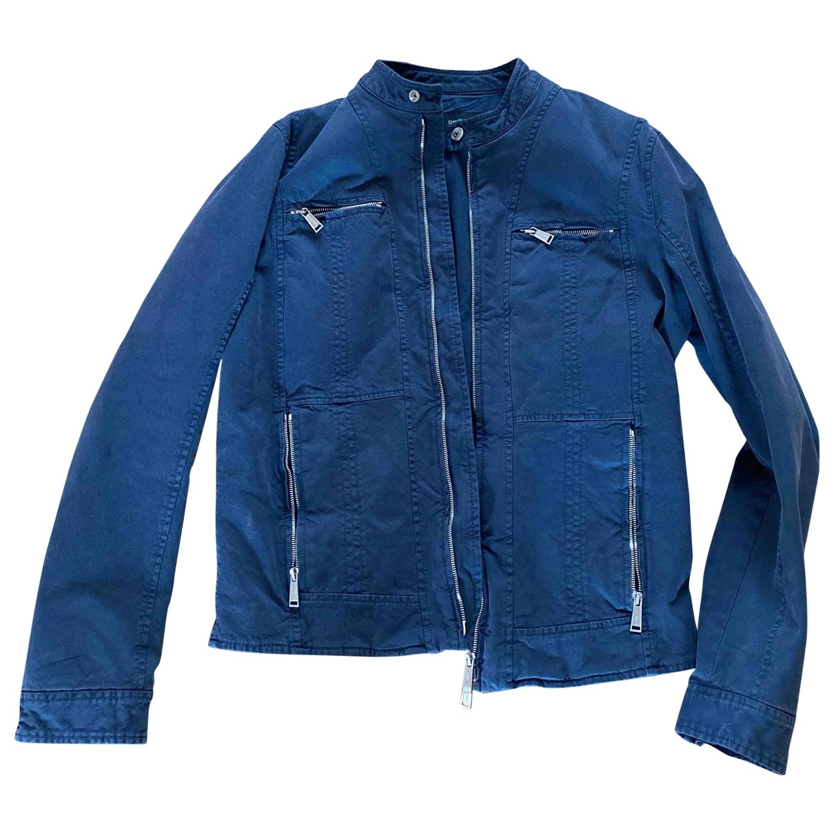 Dsquared2 \N Navy Cotton jacket  for Men 50 IT