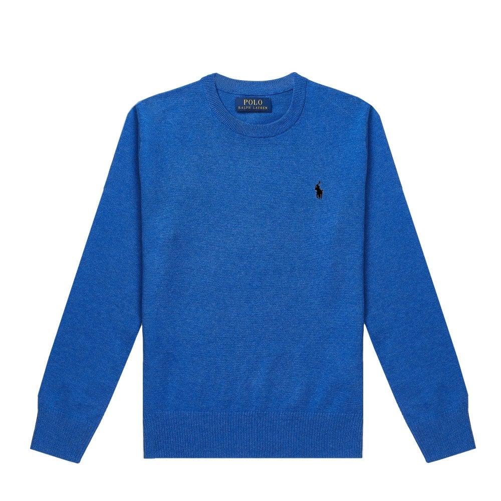 Ralph Lauren Kids Logo Sweatshirt Colour: BLUE, Size: 6 YEARS