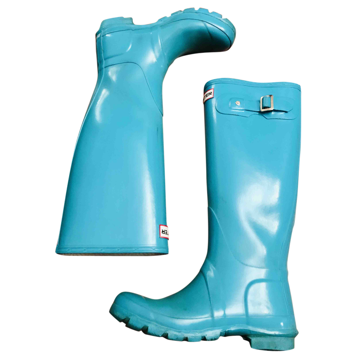 Hunter N Turquoise Rubber Boots for Women 36 EU
