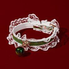Katzenhalsband mit Weihnachten Schneeflocke Dekor