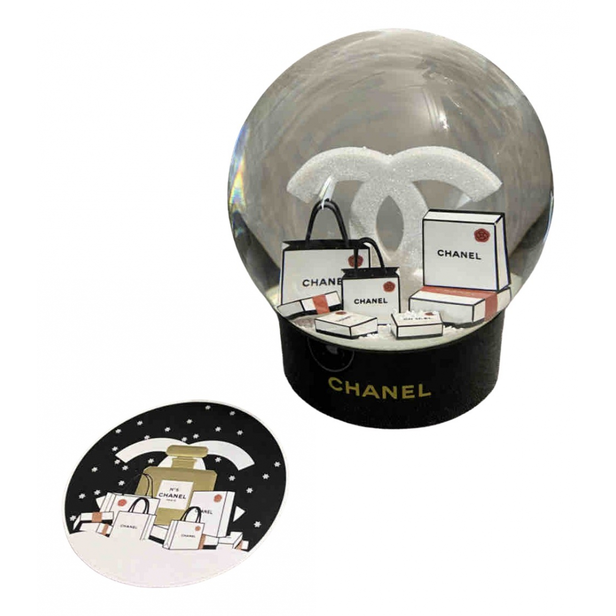 Chanel \N Black Glass Home decor for Life & Living \N