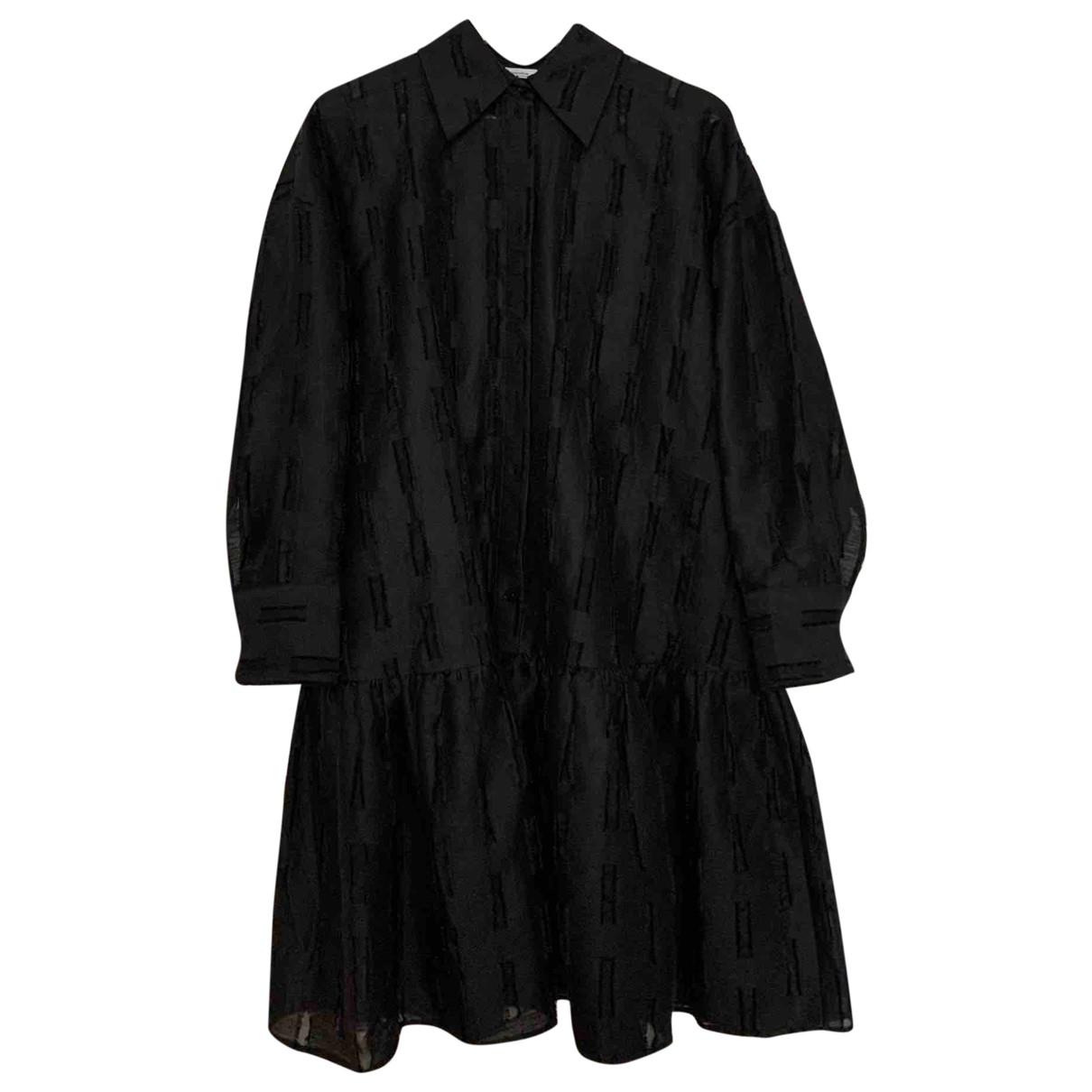 & Other Stories - Robe   pour femme en lin - noir