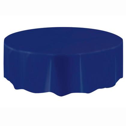Housse de table ronde en plastique, True Navy Blue 84