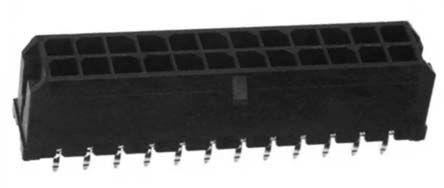 Molex , Micro-Fit 3.0, 43045, 24 Way, 2 Row, Straight PCB Header (5)