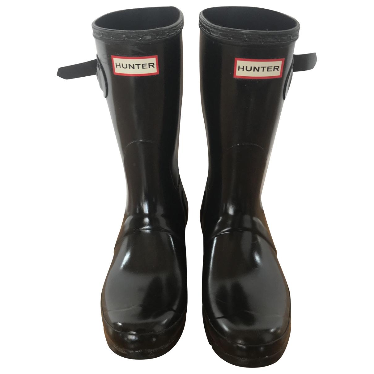 Hunter \N Black Rubber Boots for Women 39 EU