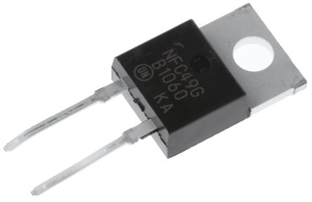 ON Semiconductor ON Semi 60V 10A, Schottky Diode, 2-Pin TO-220AC MBR1060G (5)