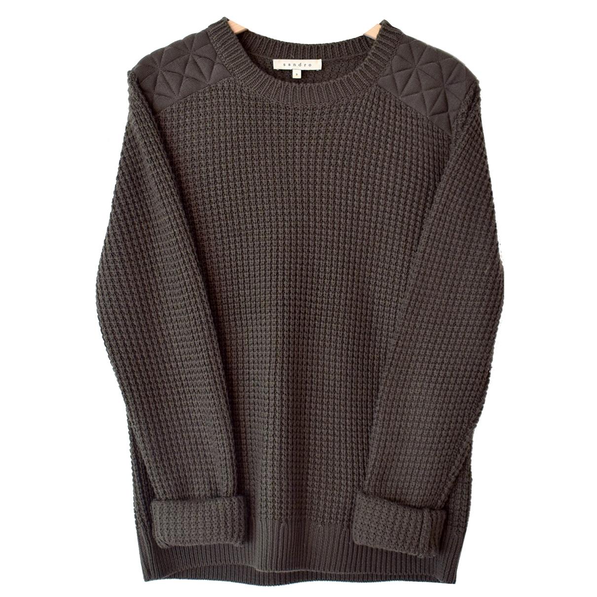 Sandro \N Khaki Wool Knitwear for Women 3 0-5