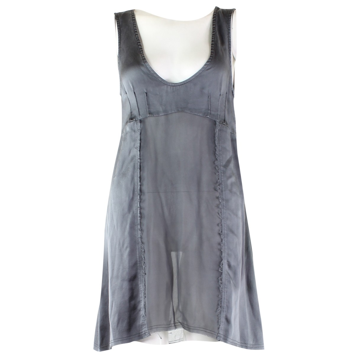Patrizia Pepe \N Grey Silk dress for Women 42 IT