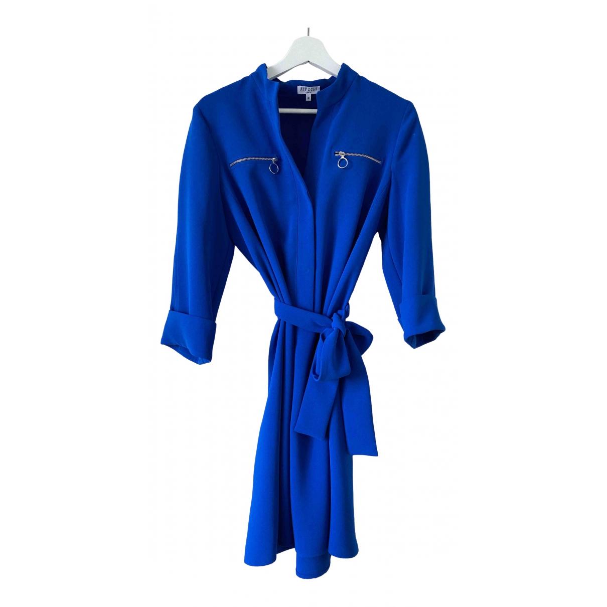 Claudie Pierlot Fall Winter 2019 Kleid in  Blau Polyester