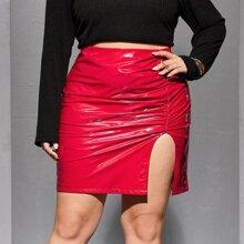Faldas Extra Grande Particion Liso Glamour