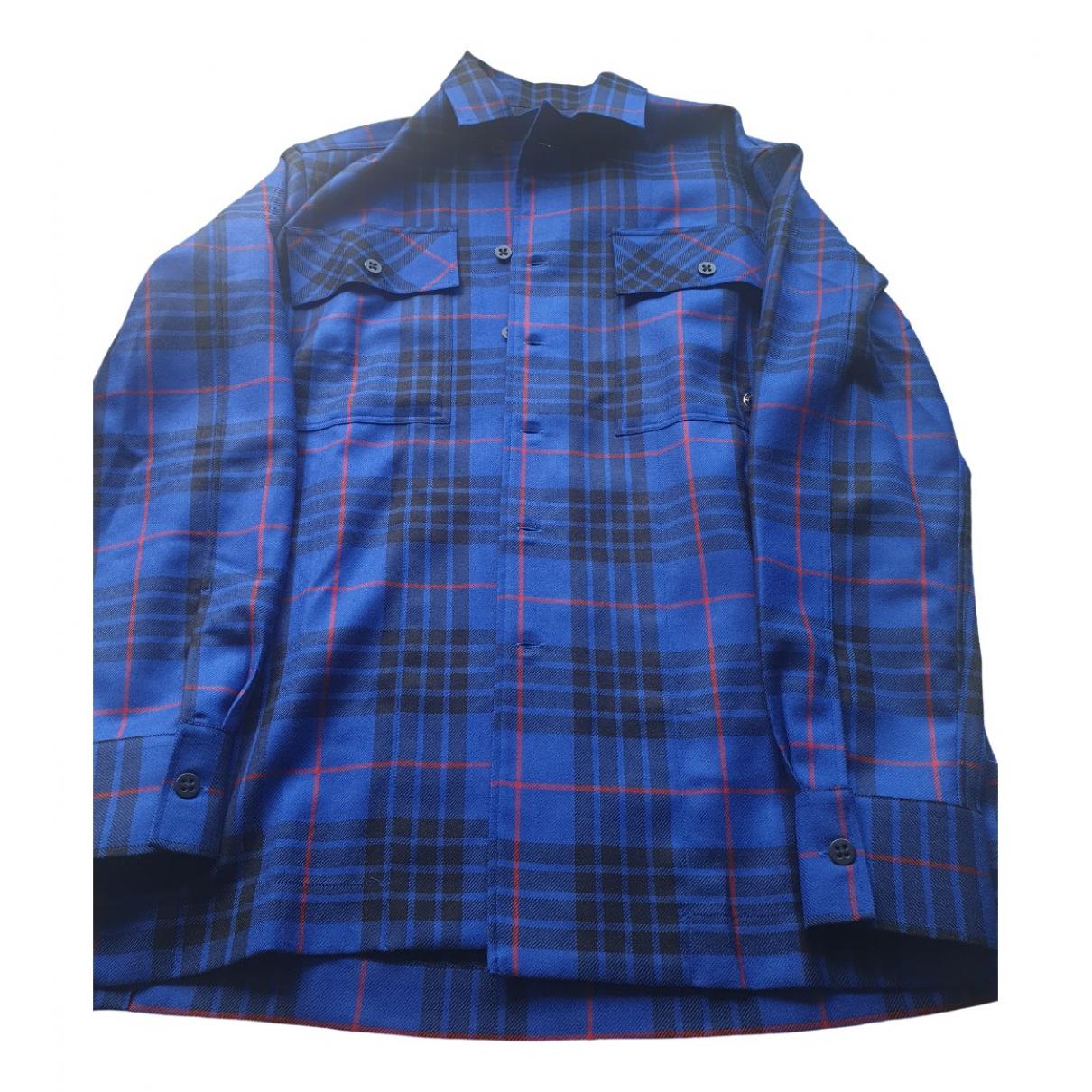 Etudes Studio - Chemises   pour homme en laine - bleu