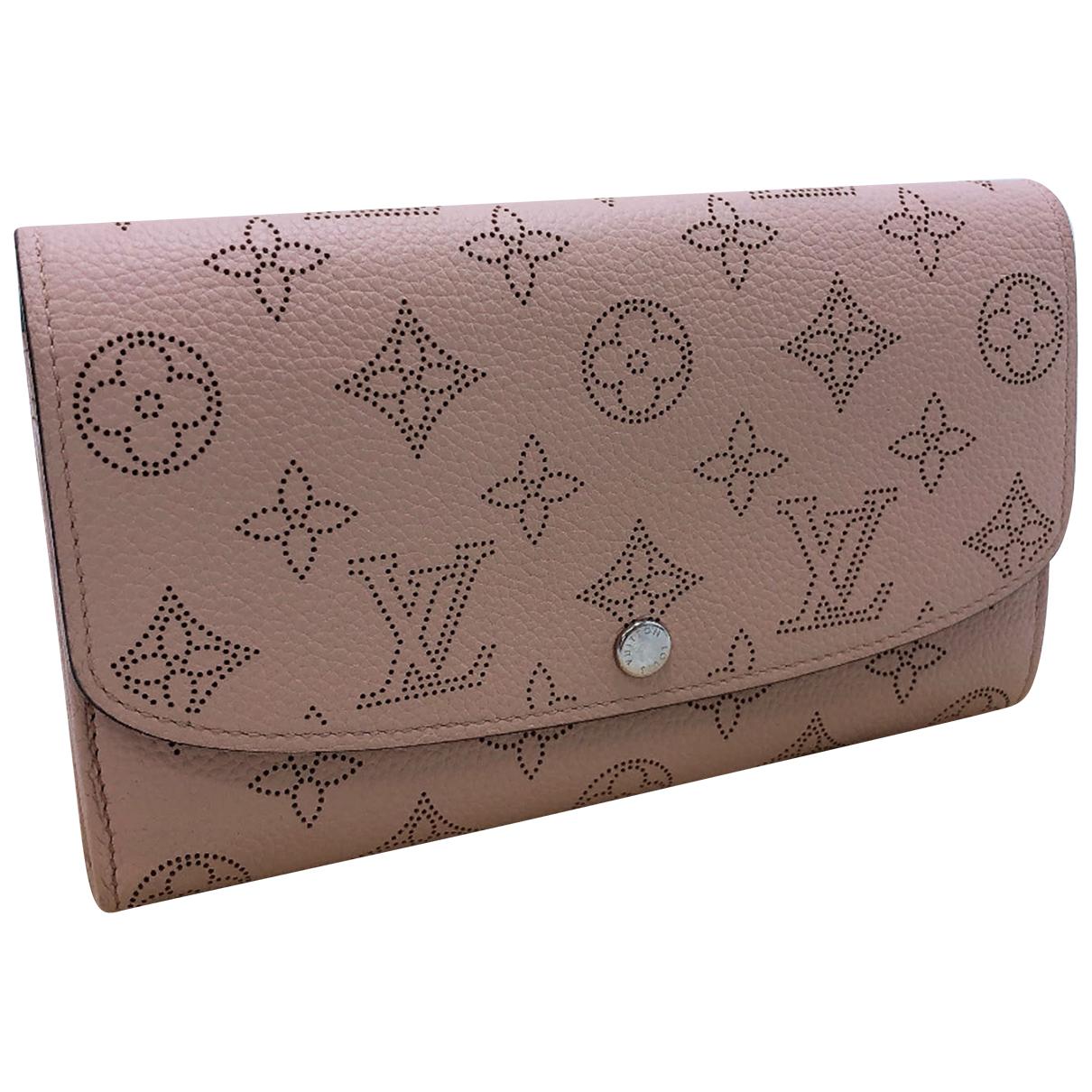 Louis Vuitton - Portefeuille Mahina pour femme en cuir - rose