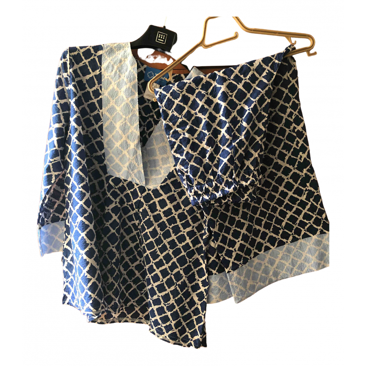 - Top   pour femme en coton - bleu