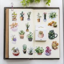 50pcs Plants Print Sticker