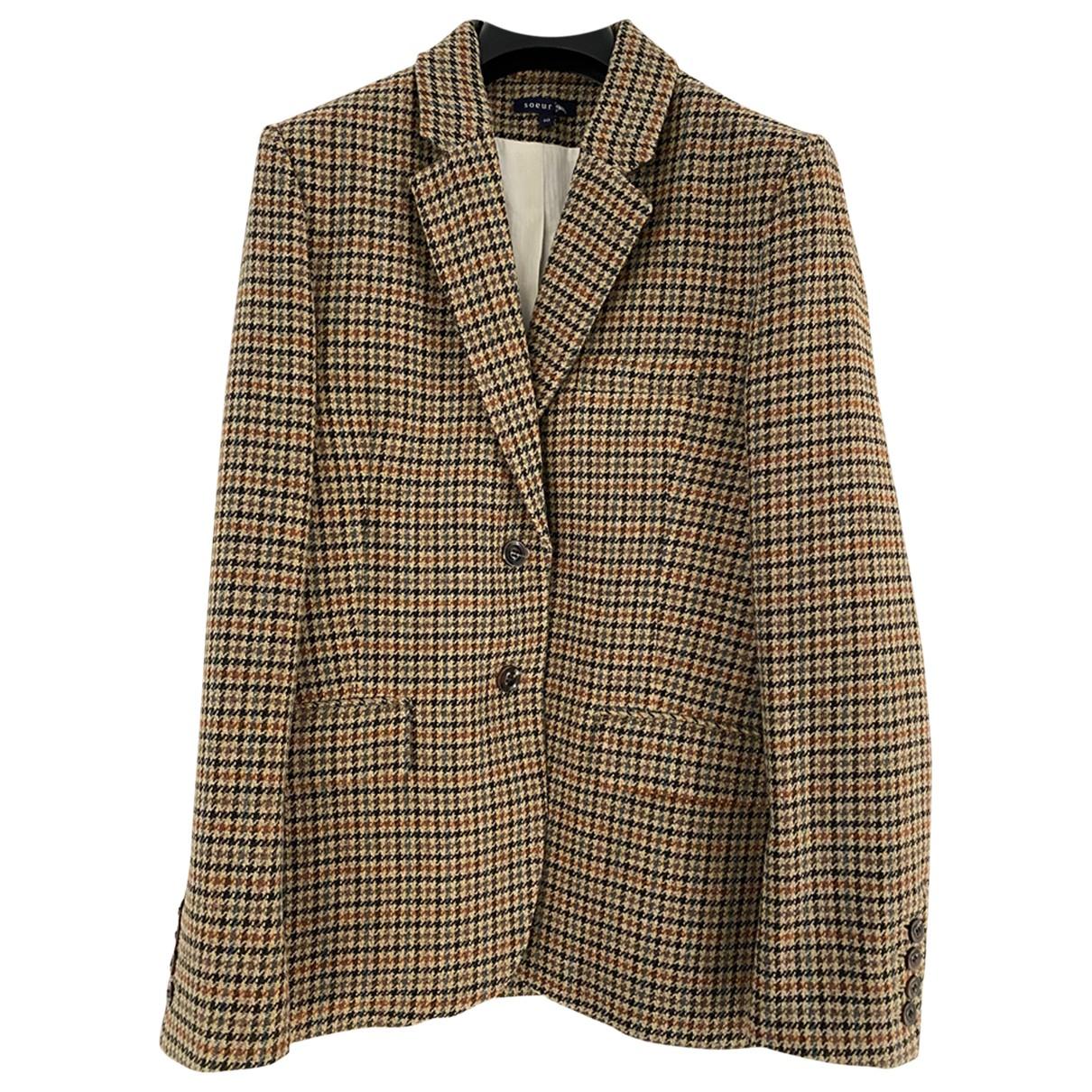 Soeur - Veste   pour femme en laine - multicolore