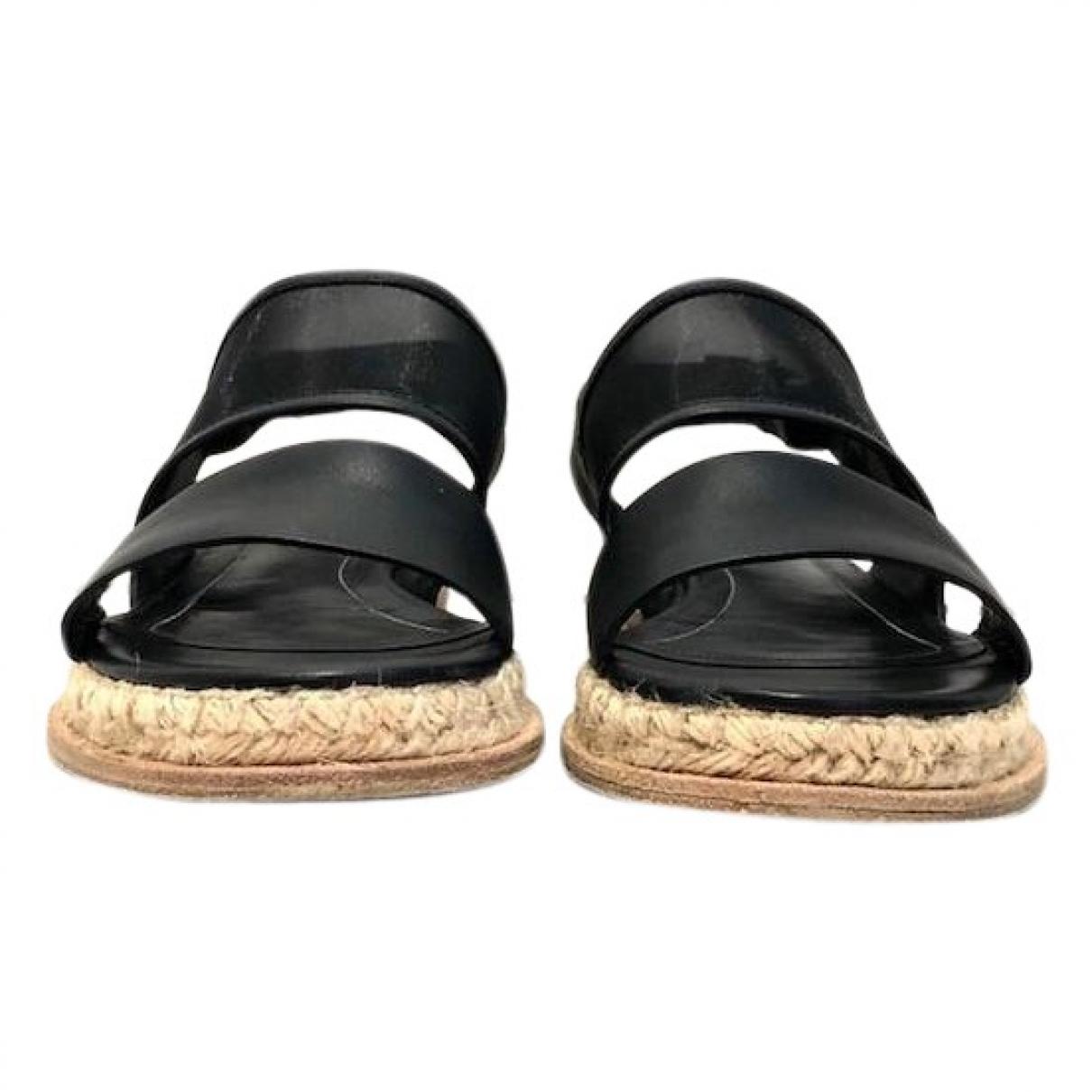 Balenciaga \N Black Leather Sandals for Women 39 EU