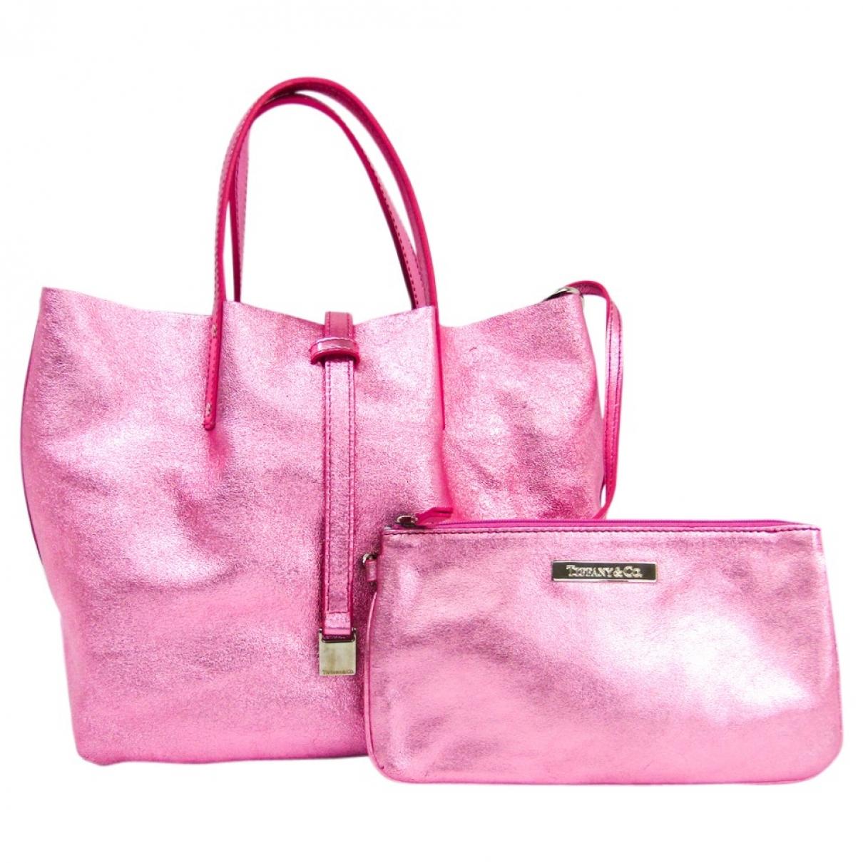 Tiffany & Co \N Pink Leather handbag for Women \N
