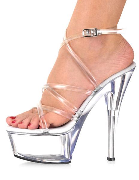 Milanoo Womens Transparent PVC Sandals