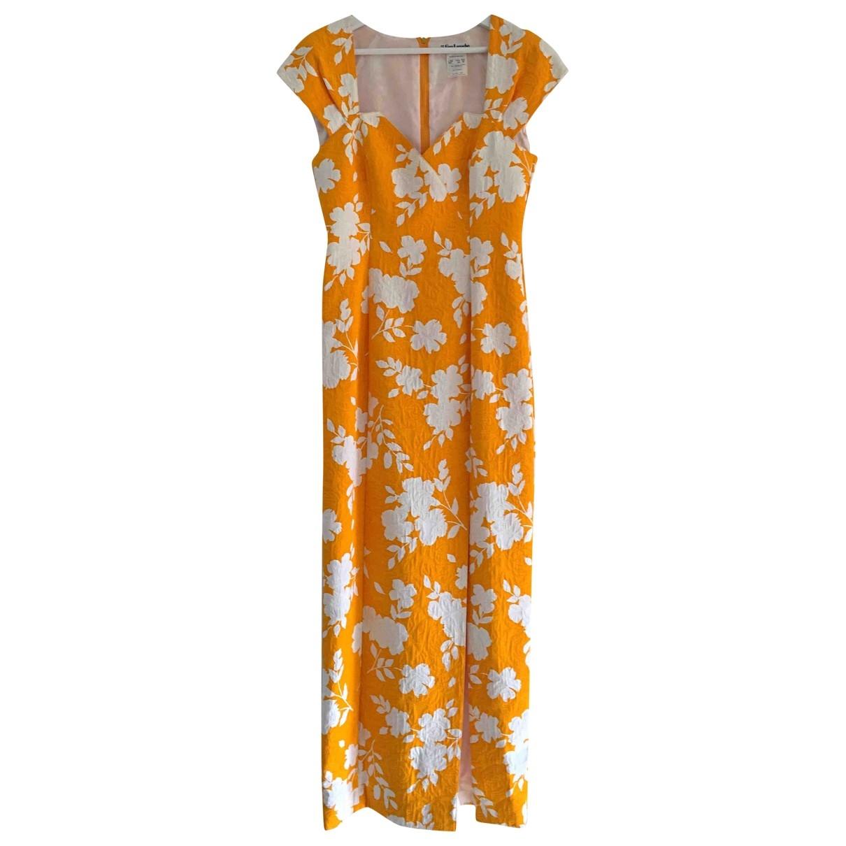 Guy Laroche \N Yellow Cotton dress for Women 44 FR