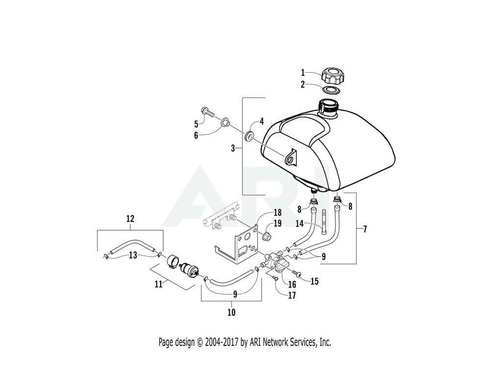 Arctic Cat OEM 3305-522 Tube Assembly Fuel   (Inc. 13)