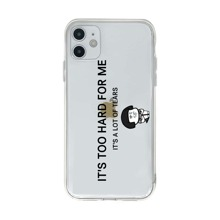 Slogan & Cartoon Graphic iPhone Case